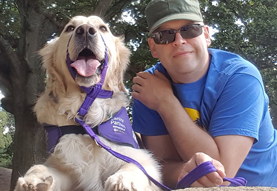 The life-changing dog who has given a Hampshire man a future to look forward to