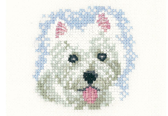 Win one of six Westie Puppy cross-stitch designs from Heritage Crafts!