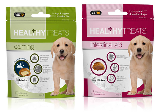 Win two bags of VetIQ puppy treats from Mark and Chappell!